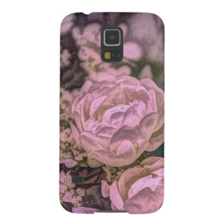Capas Par Galaxy S5 Rosa boémio do rosa do jardim do Victorian do
