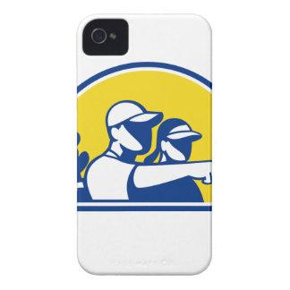 Capas Para iPhone 4 Case-Mate Apontar do Caddie e do jogador de golfe retro