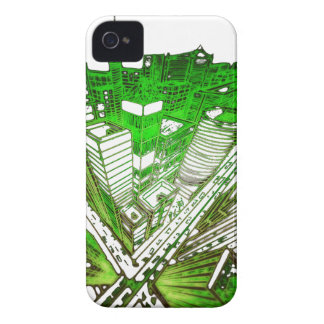 Capas Para iPhone 4 Case-Mate city em 3 point version perspective special green