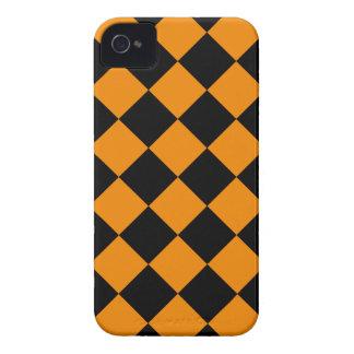 Capas Para iPhone 4 Case-Mate Diag Checkered - preto e tangerina