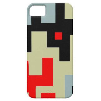 Capas Para iPhone 5 Caixa geométrica preta cinzenta vermelha do iPhone