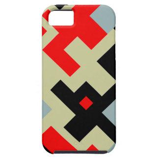 Capas Para iPhone 5 Caixa retro preta vermelha cinzenta do iPhone 5 de