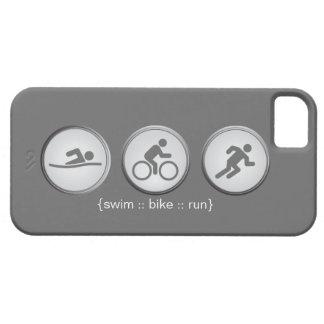 Capas Para iPhone 5 Caso do iPhone 5 do Natação-Bicicleta-Run do