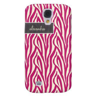 Capas Personalizadas Samsung Galaxy S4 3 zebra Pern (fúcsia)