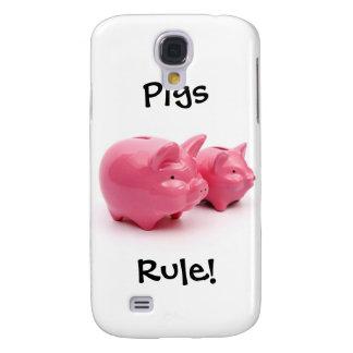 Capas Personalizadas Samsung Galaxy S4 Regra cor-de-rosa dos porcos!