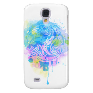 Capas Personalizadas Samsung Galaxy S4 Triskel do Aquarelle