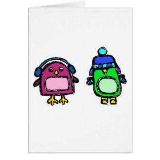 Capas protectoras para as orelhas e mitenes os cartão