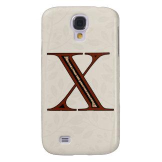 Capas Samsung Galaxy S4 Letra X do damasco - vermelho