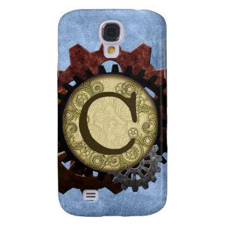Capas Samsung Galaxy S4 O Grunge Steampunk alinha a letra C do monograma