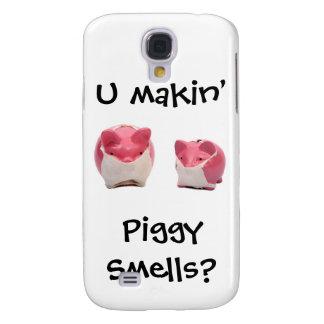 Capas Samsung Galaxy S4 Porcos cor-de-rosa Smelly