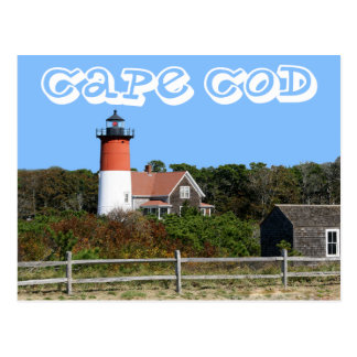 Cape Cod, farol de Nauset, Eastham, cartão das