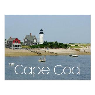 Cape Cod, farol do pescoço de Massachusetts - de Cartão Postal