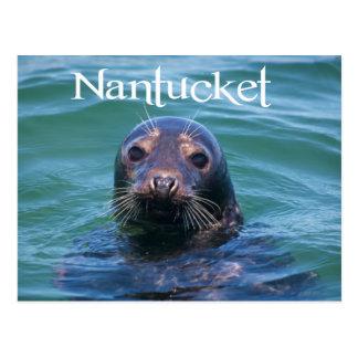 Cape Cod, Nantucket, cartão do selo de