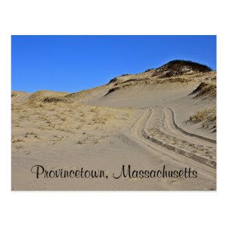 Cape Cod Provincetown, cartão das dunas de areia