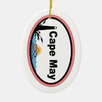 Cape May. Ornamento De Cerâmica Oval
