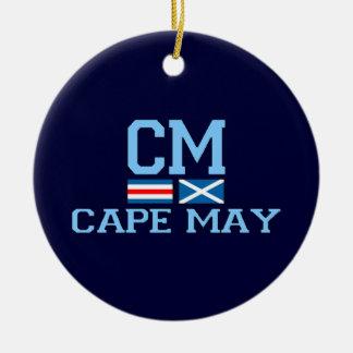 Cape May. Ornamento De Cerâmica Redondo