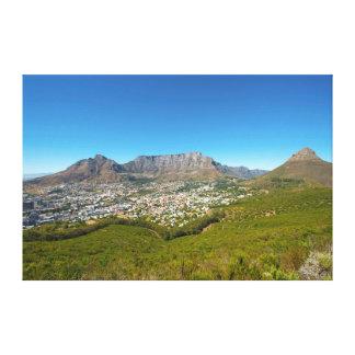 Cape Town, cabo ocidental, África do Sul 2 Impressão De Canvas Envolvida