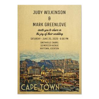 Cape Town que Wedding o convite África do Sul