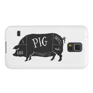 Capinha Galaxy S5 Eu gosto de bumbuns do porco e eu não posso