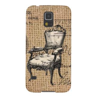 Capinha Galaxy S5 o país francês scripts a cadeira do rococo de