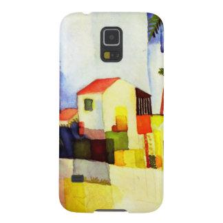 Capinha Galaxy S5 Pintura brilhante da aguarela da casa de August