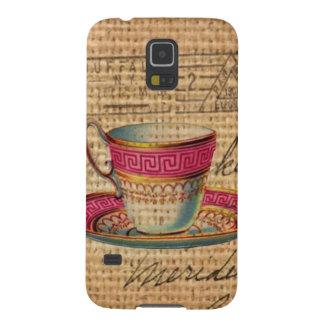 Capinha Galaxy S5 Teacup rústico do victorian do rosa do tea party