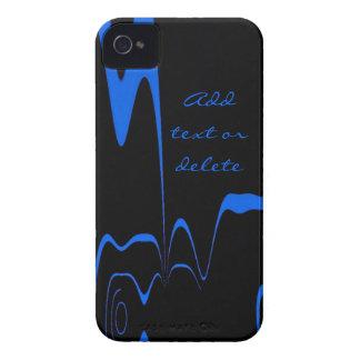 Capinha iPhone 4 Flash do azul da caixa de Blackberry