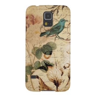 Capinhas Galaxy S5 botânico francês de Paris do pássaro do victorian