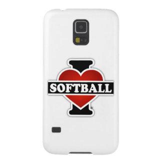 Capinhas Galaxy S5 Eu amo o softball
