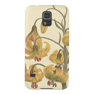 Capinhas Galaxy S5 Ilustração botânica do lírio alaranjado de Pompone