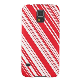 Capinhas Galaxy S5 Listras diagonais vermelhas e brancas do bastão de