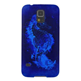 Capinhas Galaxy S5 Pintura azul do cavalo marinho