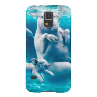 Capinhas Galaxy S5 Praia do porco - porcos da natação - porco