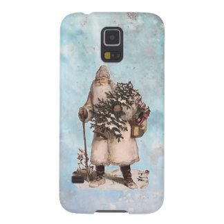 Capinhas Galaxy S5 Queda de prata da neve do papai noel do Natal do