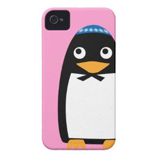Capinhas iPhone 4 Yarmulke judaico feliz do pinguim de Hanukkah