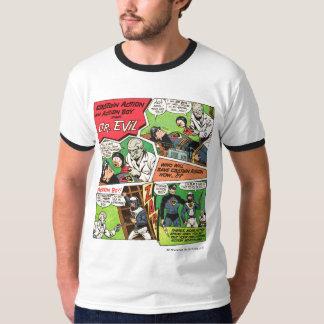 Capitão Ação Clássico Anúncio T Camisetas