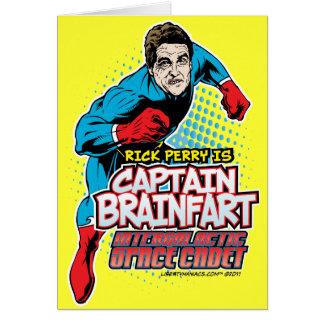 Capitão Brainfart Cartão de Rick Perry