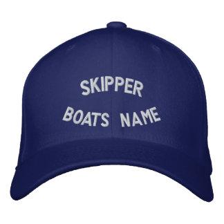 Capitão com seu nome dos barcos boné bordado