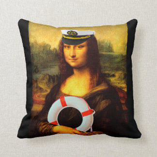 Capitão de mar Mona Lisa Almofada