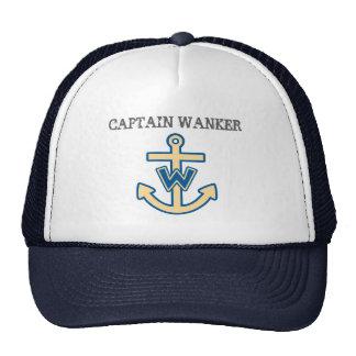 """""""Capitão engraçado Wanker """" Boné"""