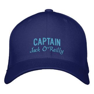 Capitão personalizado azul boné bordado