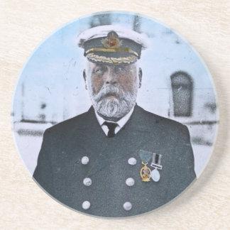 Capitão titânico Edward J. Smith do RMS Porta Copos De Arenito