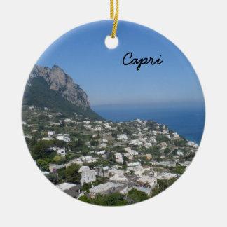 Capri, Italia Ornamento De Cerâmica Redondo