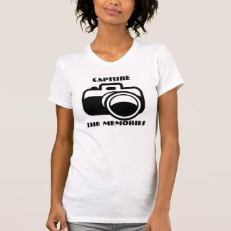 Capture as memórias, tshirt da câmera