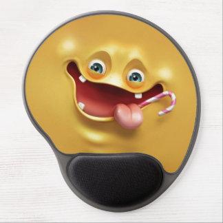 Cara amarela engraçada mouse pad de gel