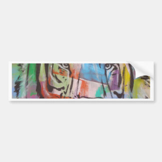 cara colorida brilhante do tigre de DSC00414.jpg Adesivo Para Carro