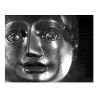 Cara da escultura cartão postal