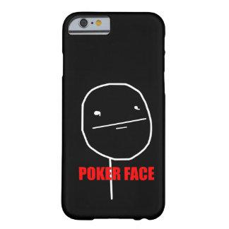 Cara de póquer Meme Capa Barely There Para iPhone 6