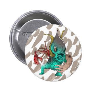 Cara do calamar bóton redondo 5.08cm