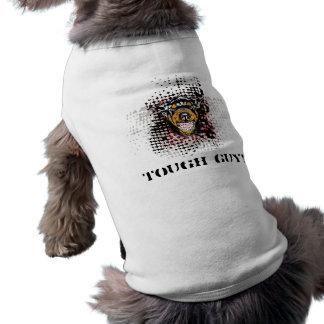 Cara do cão da rosnadura com o pano do animal de e camisa sem mangas para cachorro